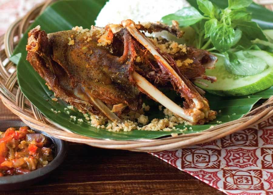 tempat makan bebek yang enak di jakarta, tempat makan bebek kaleyo jakarta, menu bebek goreng bebek kaleyo